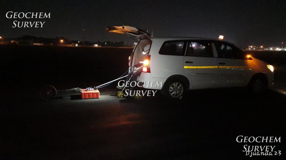 pengukuran georadar di runway bandara